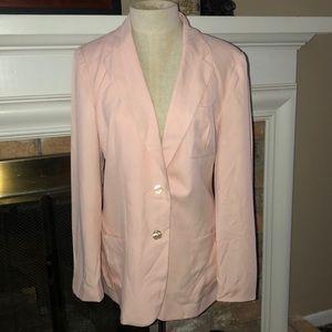 NWT Silk blazer in westbury pink ice, size 14